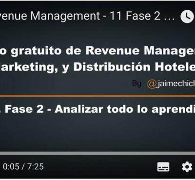 Video – Fase 2  del Revenue Management Analizar todo lo aprendido - eRevenue Masters