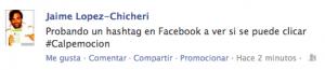 Hashtags Clicables en facebook