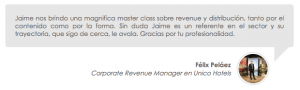 Felix Pelaez - Corporate Revenue Manager en Unico Hotels