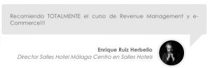 Opinión de los cursos de revenue management de erevenue Masters de Enrique Ruiz Herbello