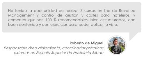 opinión Roberto de Miguel erevenue masters