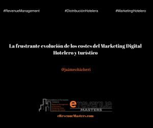 La frustrante evolución de los costes del Marketing Digital Hotelero y turístico
